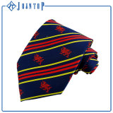 Cravate de logo tissée par polyester uniforme neuf de ramassage