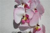 Arranjo de flores de casamento Orquídea de traça rosa artificial para venda