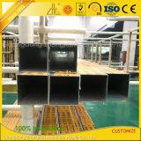 Alumínio extrudido OEM Rectangular, perfil de tubo tubo quadrado