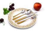 Комплект Cutlery нержавеющей стали золота банкета венчания трактира гостиницы уровня высокой ранга