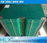 Grüne hölzerne Fertigungsmittel-Ladeplatte für Fließband