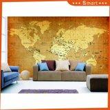 居間の壁の装飾のためのキャンバスのClassicialの世界地図の油絵