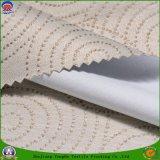 가정 직물에 의하여 길쌈되는 폴리에스테 직물 방수 방연제 입히는 3개의 통행 정전 커튼 직물