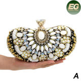 Les sacs de soirée en cristal de femmes de bourse d'embrayage de sac à main de luxe de Rhinestone ont 3 la taille Eb784ABC