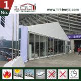 Высокий классицистический стеклянный шатер для напольной временно выставки автомобиля