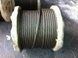 Filo di colore rosso della corda 6X37+FC/Iws/Iwrc uno del filo di acciaio di Ungalvanized