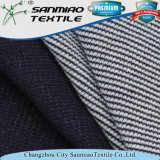 Indigo 30s Waffle Style Knitted Denim Fabric by Circular Machines