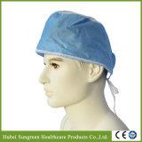 Protezione non tessuta a gettare del chirurgo con i legami alla parte posteriore