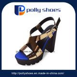 Las mujeres calzados informales de tacón alto sandalia de la manera