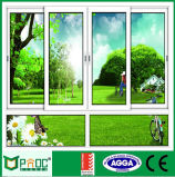 Sola ventana de desplazamiento satinada del aluminio con estándar australiano