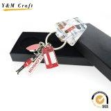 Porte-clés métallique à huile de remplissage promotionnelle avec Debossed