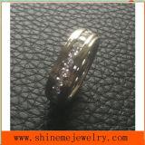 Ring van het Roestvrij staal van de Cirkel van de Juwelen van Shineme de Volledige Stenen Ingelegde (CZR2546)