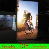 Rectángulo ligero de DIY de la exposición de la visualización de la materia textil modular portable de la pared LED