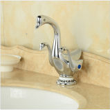 Forme de canard mignon Poignées double cascade Bassin de la Salle de Bain lavabo robinet