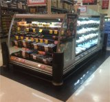 3つの棚のMultideckの食料雑貨品店のための半開いた表示クーラー