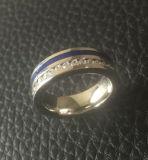 Zircon de la joyería de Shineme y anillo popular azul del pegamento