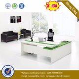 メラミンオフィス表L形のコンピュータの机のオフィス用家具(HX-6M038)