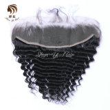 Indian Sèche cheveux humains 100 % de la meilleure qualité de la Dentelle vague profonde frontale Remy Hair