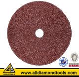 Disco de fibra abrasiva de óxido de alumínio para moagem / polimento