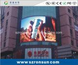 P10mm que hace publicidad de la pantalla de visualización al aire libre a todo color de LED de la cartelera