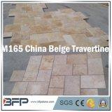 Azulejo amarillento de la piedra del travertino de China para la decoración y la construcción interiores Matrial