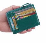 동전 구멍을%s 가진 실제적인 가죽 신용 카드 지능적인 지갑 홀더