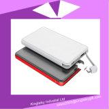 5000mAh batería portuaria dual de la potencia del Li-Polímero del USB de la carga 2.0 rápidos