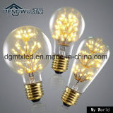 Ampoule en verre décorative de l'étoile DEL d'arbre de Noël de diamant d'ampoule d'Edison de cru de MTX 3W E27 220V