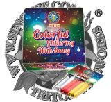 Colorido del brillo del chisporroteo W / 50 PCS de los fuegos artificiales Petardos