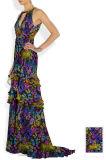 Tela de seda pura do Chiffon do Chiffon 6mm da alta qualidade para o vestido