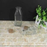 高品質100ml 300mlのコルクが付いている正方形のガラスミルクびん