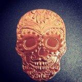 Color oro rosa Hot Stamping Foil de Aluminio de transferencia de calor de la lámina de papel de aluminio de forma de cráneo