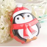 Sankt-Sets Zinn-Pinguin-Bären-Weihnachtszinn-Kästen