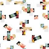 Tela impresa del poliester de la tela de estiramiento para la ropa (PPF-076)