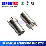 28.6mm 소켓 똑바른 PCB 마운트 여성 BNC 연결관