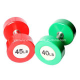 PU Dumbbell com tampa de aço para o Gym Hotel / Fitness Center Use