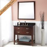Самомоднейший шкаф ванной комнаты твердой древесины тщеты ванной комнаты Fed-340