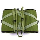verde resistente all'acqua dell'esercito del sacchetto del Pannier del doppio del sacchetto di elemento portante della sede posteriore della bicicletta 45L
