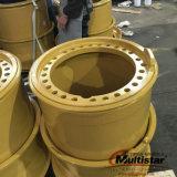 땅을 고르는 기계 바퀴 로더 바퀴 강철 쓰레기 압축 분쇄기 바퀴