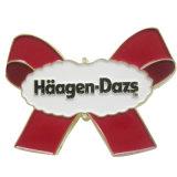 승진 선물 (XD-0312)를 위한 주문 금속 분홍색 심혼 접어젖힌 옷깃 Pin 기장