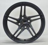 黒い機械表面が付いている薄いsopkeの鋳造合金の車輪