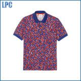 Novo Design Fashion Pollka pontos impressos homens camisa Polo