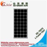 panneau solaire mono de 18V 130W-155W pour le système d'alimentation solaire