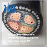 câble d'alimentation de cuivre à un noyau isolé par XLPE souterrain d'ug 12/20KV