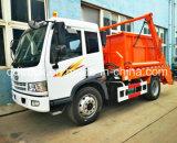 4-6 m3 FAW brazo del rodillo camión de basura, Oscilación del camión de basura del brazo