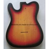 La lucentezza rifinita ha fiammeggiato ente della chitarra dell'ontano superiore dell'acero il tele