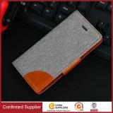Крышка мобильного телефона Flip случая PU Jean бумажника типа способа кожаный