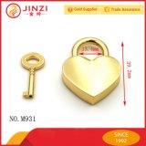 아연 합금 핸드백 자물쇠 금속 심혼 키 자물쇠