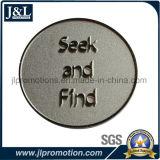 サンドブラスティングの背景が付いている顧客デザイン挑戦硬貨