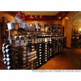 Cremagliera del vino della visualizzazione del pavimento 27-Bottle del metallo di memoria della vendita al dettaglio